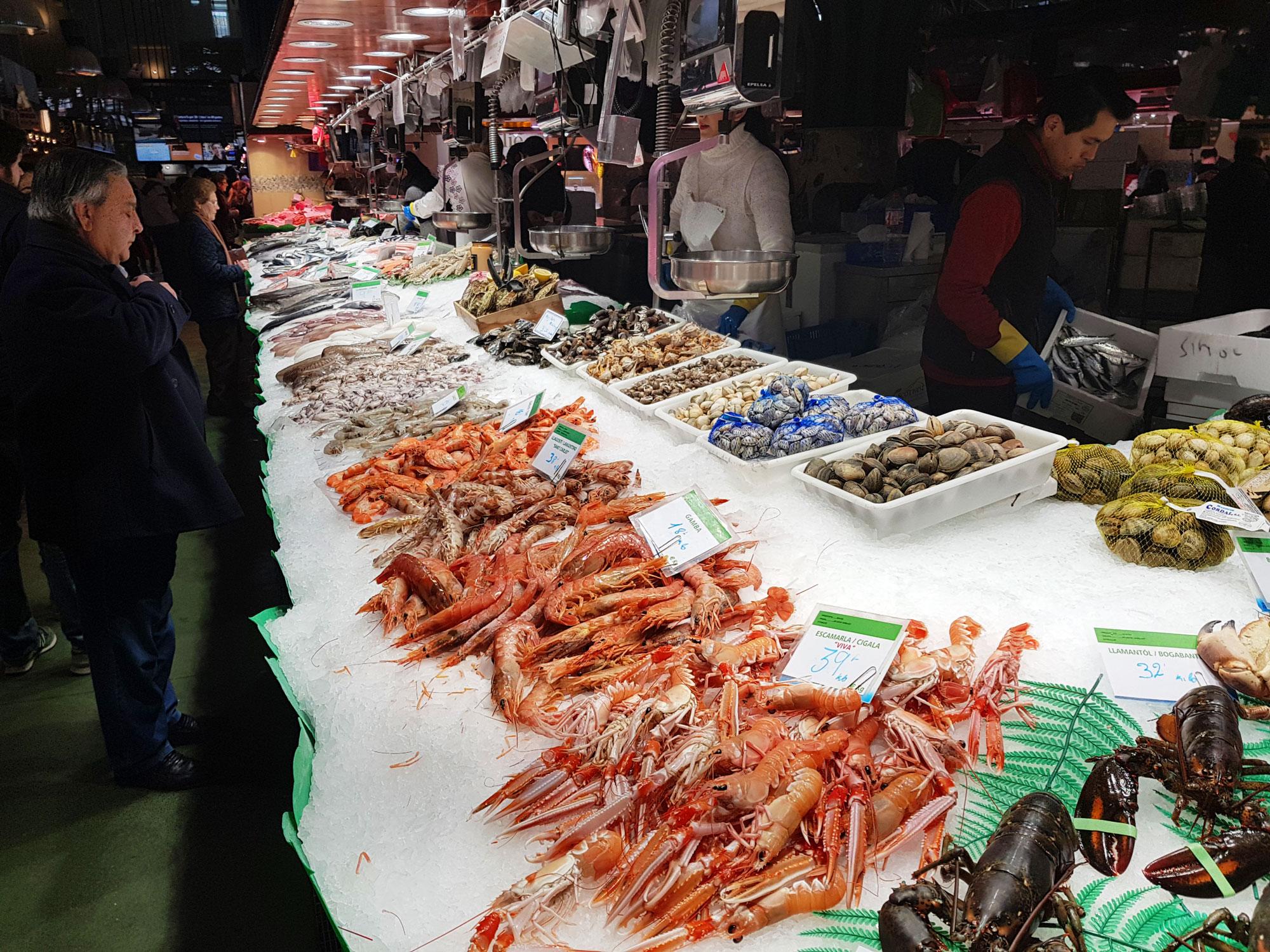 fisk-skalldyr-la-Boqueria-barcelona