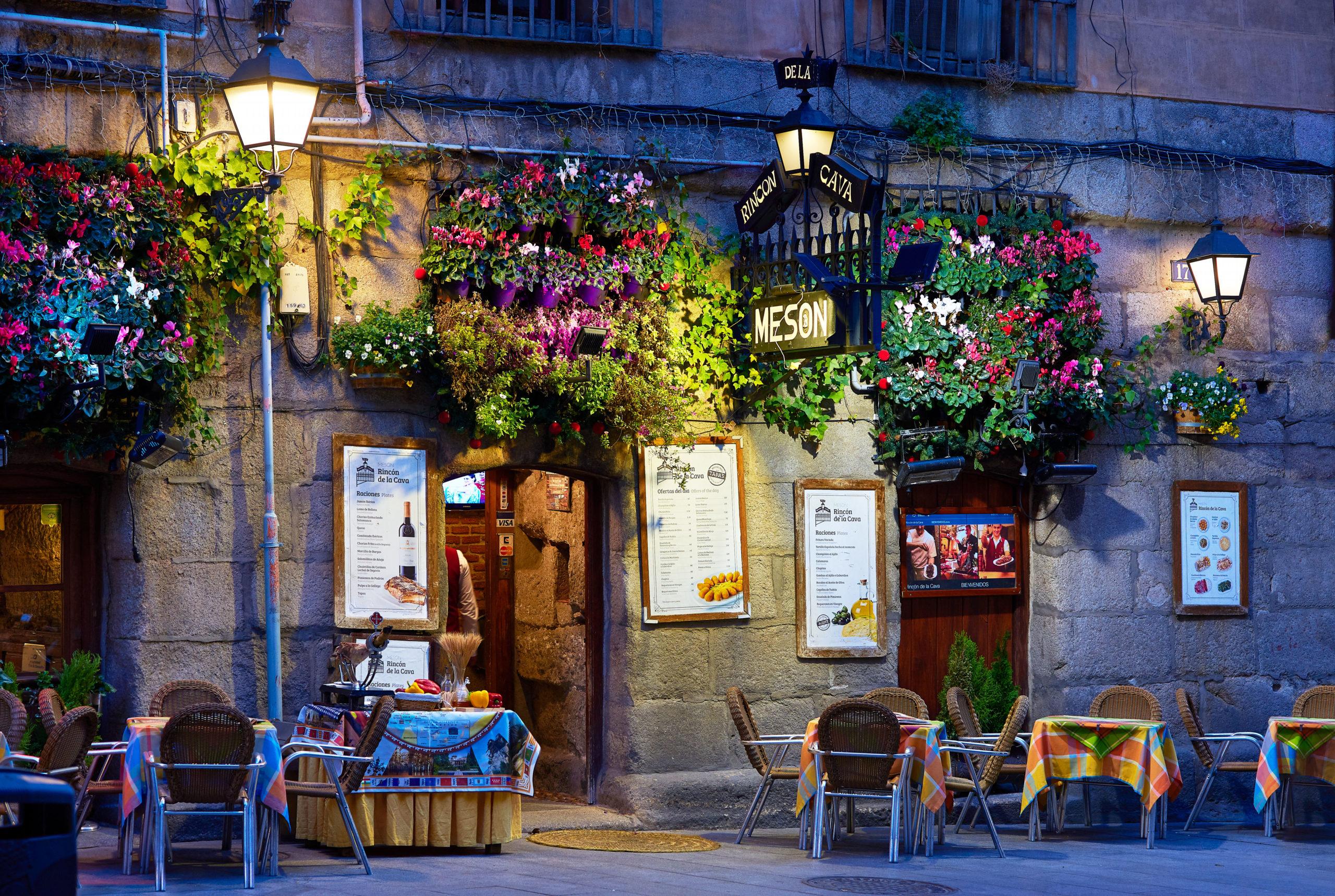 Madrid spisesteder restauranter Spania cafe