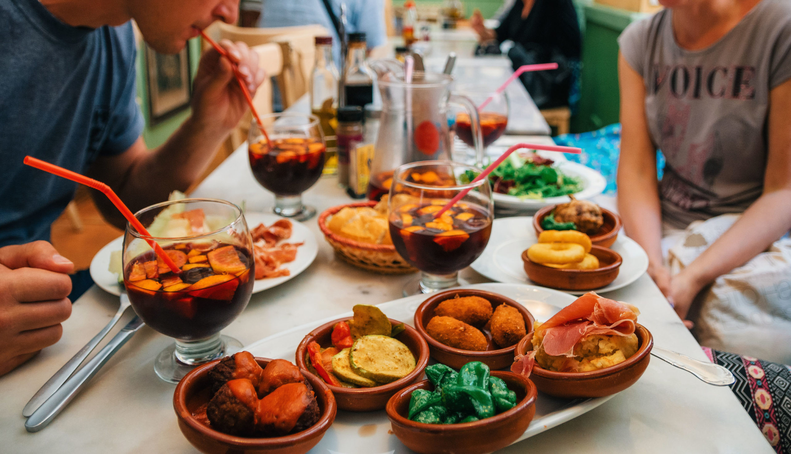 Paella spansk mat drikke restaurant Spania tapas