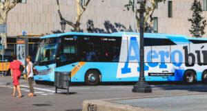 buss aerobus Barcelona flyplass sentrum