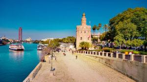 vaer klima Sevilla Spania temperatur